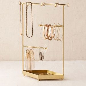 Gold Urban Outfitters Jewelry Stand